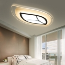 Acrylic Ultrathin Flush Mount Light with Leaf Design Integrated Led Modern Flush Lighting