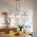 Crystal Fringe Ceiling Light Transitional Metal Ceiling Pendant Lights over Kitchen Island