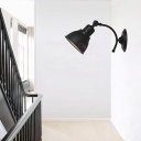 Matte Black/Rust Wall Mounted Light Aged Iron 1 Light Domed Wall Sconce Lighting for Indoor