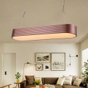 Copper Linear Chandelier Light with Metal Shade Modern LED Suspension Light in Third Gear