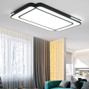 Led Rectangle Flush Mount Lighting Modern Simple Metal Ceiling Flush Light for Living Room