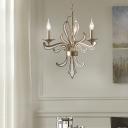 Vintage Chandelier Light with Candle Design Gold Leaf Multi Light Pendant with 23.5