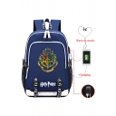 Harry Potter Hogwarts Logo Printed Students USB Charge School Bag Backpack 30*15*44cm