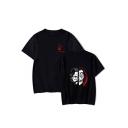 Money Heist Figure Face Printed Round Neck Short Sleeve Unisex T-Shirt