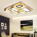 White Geometry Flush Mount Ceiling Light Modern Style Acrylic Ceiling Lighting for Sitting Room