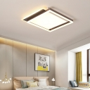 Metallic Geometric Flush Light Contemporary Led Flush Mount Ceiling Light in Brown