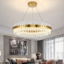 Contemporary Round Pendant Light Fittings Stainless Steel Rivet Hanging Lamp for Dining Table