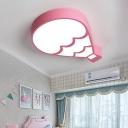Hot Air Ballon Ceiling Light Modern Kids Metal Led Flush Ceiling Lamp with Acrylic Diffuser