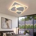 Multi-Triangle Acrylic Ceiling Lighting Contemporary Metal Flush Lighting in White