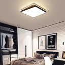 Black/White Square Ceiling Light Acrylic Shade LED Ceiling Lamp for Bedroom
