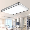 Contemporary Square/Rectangle Flush Light Fixtures Acrylic LED White Ceiling Lamp for Living Room