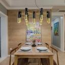 Post Modern Tube Pendant Light Metal Shade 11/22 Light Integrated Led Chandelier Light