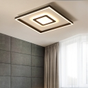 Square/Rectangle Ceiling Light Fixture Modernism Metal Indoor Led Flushmount Lighting