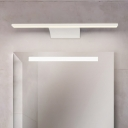 White Linear LED Wall Lamp Modern Acrylic and Metal Sconce Wall Lighting for Vanity Bathroom