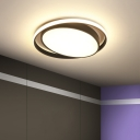 Modern Oval Flush Ceiling Light with Ring Led Foyer Flush Mount with Frosted Diffuser
