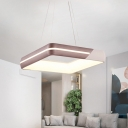 Led Geometric Pendant Light Nordic Style Height Adjustable Metal Hanging Ceiling Light in Third Gear