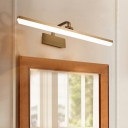 Contemporary Warm/White Wall Sconce Light Metal and Acrylic Sconce Wall Lights in Bronze for Vanity
