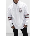 Men's New Stylish Letter C Print Long Sleeve Casual Sport Training Pullover Drawstring Hoodie