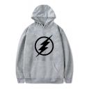 Cool Comic Flash Logo Print Long Sleeve Sport Casual Unisex Hoodie