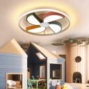 Multi Color Windmill Ceiling Light Nordic Metal Led Flush Mount Lighting for Nursery Room