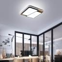 Acrylic Trapezoid  Ceiling Flush Mount Fixture Nordic Style LED Flush Lighting in Black/White
