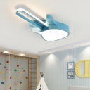 Contemporary Instrument Flush Mount Light Metal 1 Light Flush Mount Light Fixtures for Bedroom