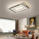 Minimalist Led Ceiling Flush Light Metal Living Room Flush Mount Ceiling Light
