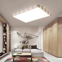 Metallic Flush Mount Ceiling Light with Acrylic Lampshade Modern White Led 1 Light Flush Light