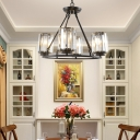Crystal Shaded Chandelier Light Fixture Contemporary Iron Ceiling Chandelier for Living Room