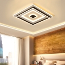 Acrylic Geometric Flushmount Lighting Simple Modern Integrated Led Flush Light