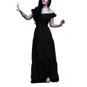 Womens Renaissance Dress Medieval Halloween Cosplay Costume Ball Gown Maxi Dress