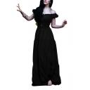 Womens Renaissance Dress Medieval Halloween Cosplay Costume Ball Gown Maxi Dress