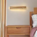 Modern Rectangle Wall Mounted Light White Oak Integrated Led Wall Lighting for Bedroom
