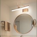 Acrylic Linear Wall Light with Antler Led Adjustable Vanity Light Fixture for Bathroom