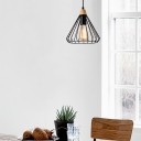 Cone Light Pendant Nordic Style Steel Single Light Pendant Lights with Adjustable Rod for Indoor