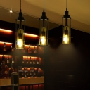 Wine Bottle Ceiling Pendant Lights Modern Glass and Iron 1 Head Hanging Pendant Lights for Bar