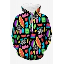Cool 3D Colorful Eyes Printed Long Sleeve Casual Sport Hoodie