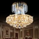 Unique Crystal Fringe Pendant Chandelier Modern Large Crystal Ball Chandelier Light for Living Room