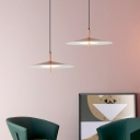 Integrated Led Flared Down Lighting Contemporary Metal Rose Gold Pendant Light