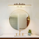 Brass/Black Unique Linear Wall Lamps Modern Metal LED Sconce Wall Lights for Bathroom Vanity