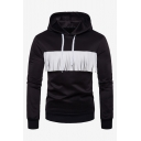 Mens Fashion Unique Tassel Embellished Long SLeeve Casual Slim Fit Hoodie