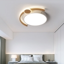 Black/Gold Drum Ceiling Light Fixture Nordic Metal Led Flush Mount for Living Room