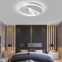 White Aluminum Acrylic Ceiling Lights Flush Mount Modern 18