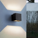 Angle Adjustable Cube Wall Mounted Lighting Simple Metal Waterproof Led Outdoor Lighting in Black/Grey/White