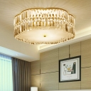 Blossom Shade Hotel LED Flush Mount Light Acrylic Contemporary Ceiling Light in Gold