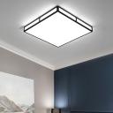 Living Room Rectangle/Square Flushmount Light Acrylic Modern Black/White LED Ceiling Light