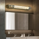 Metal Linear Wall Light Modern Vanity Wall Light in Chrome for Bathroom Bedroom Mirror