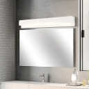 Matte White Rectangle Wall Mounted Light Minimalist Metal Led Bathroom Lighting