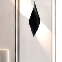 Curl Wall Sconce Lighting Modern Simple Metal Black/White Wall Mounted Light for Bedroom
