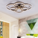 Simple Circular LED Flush Mount Light Acrylic Natural/Warm/White Lighting Ceiling Lamp for Study Room
